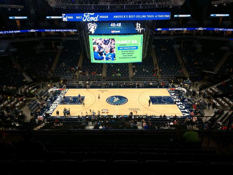 Seating view for Target Center Section 231 Row J Seat 6