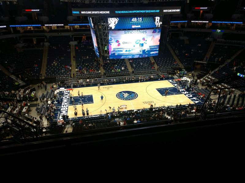 Seating view for Target Center Section 232 Row K Seat 9