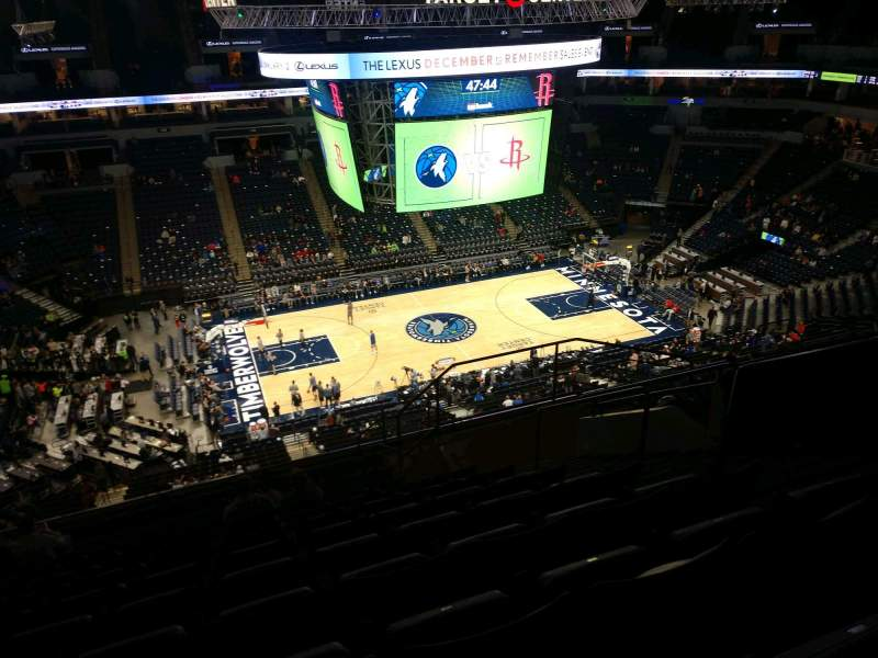 Seating view for Target Center Section 233 Row N Seat 5