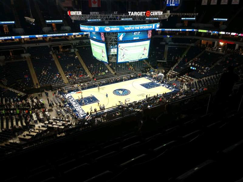 Seating view for Target Center Section 234 Row Q Seat 8