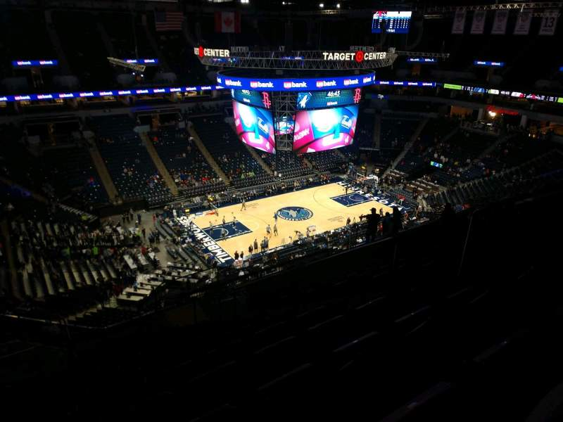 Seating view for Target Center Section 235 Row T Seat 6
