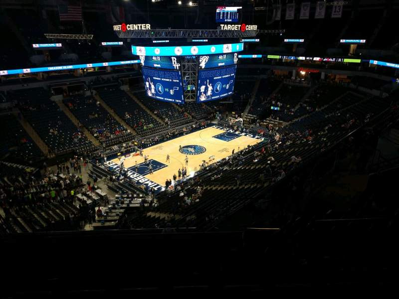 Seating view for Target Center Section 236 Row N Seat 9