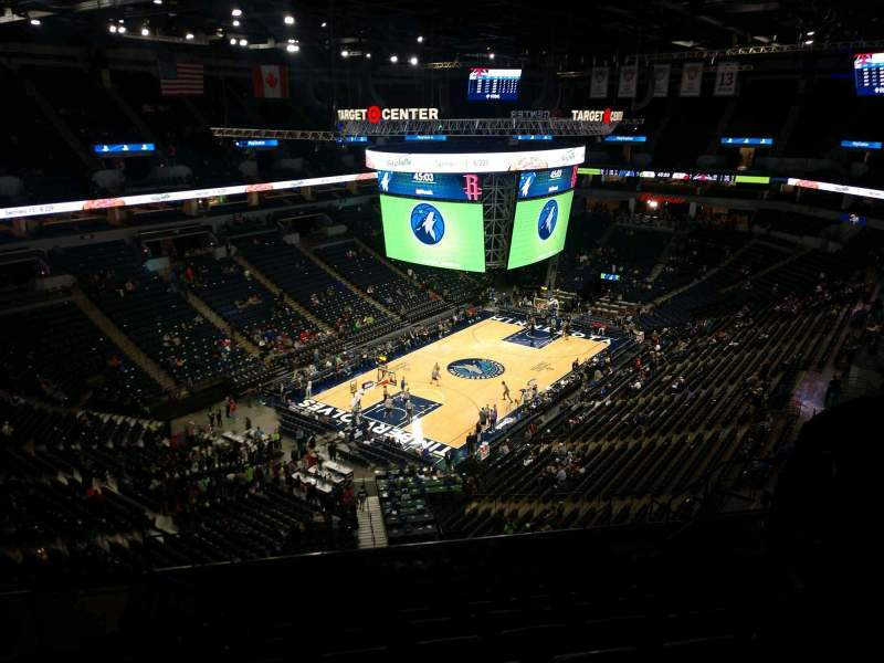 Seating view for Target Center Section 237 Row P Seat 10