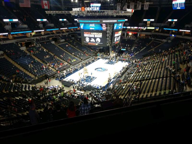 Seating view for Target Center Section 238 Row K Seat 8
