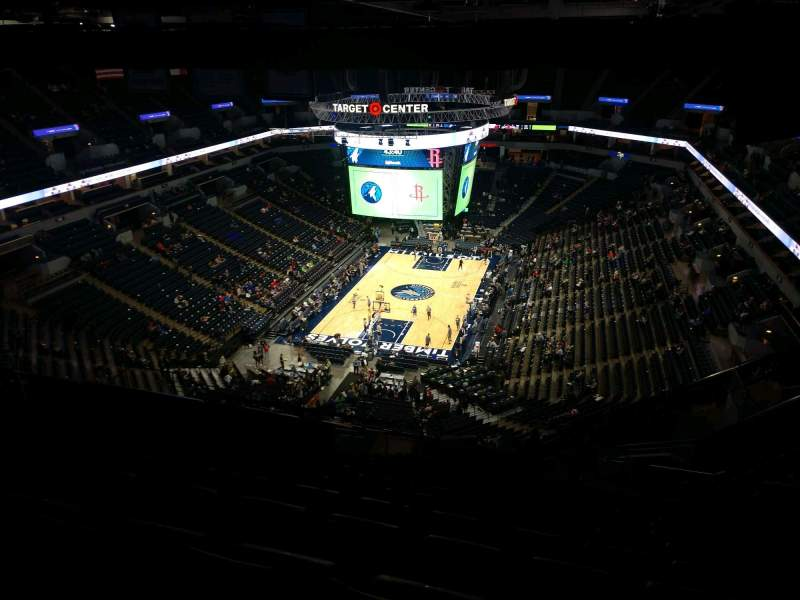 Seating view for Target Center Section 239 Row X Seat 9