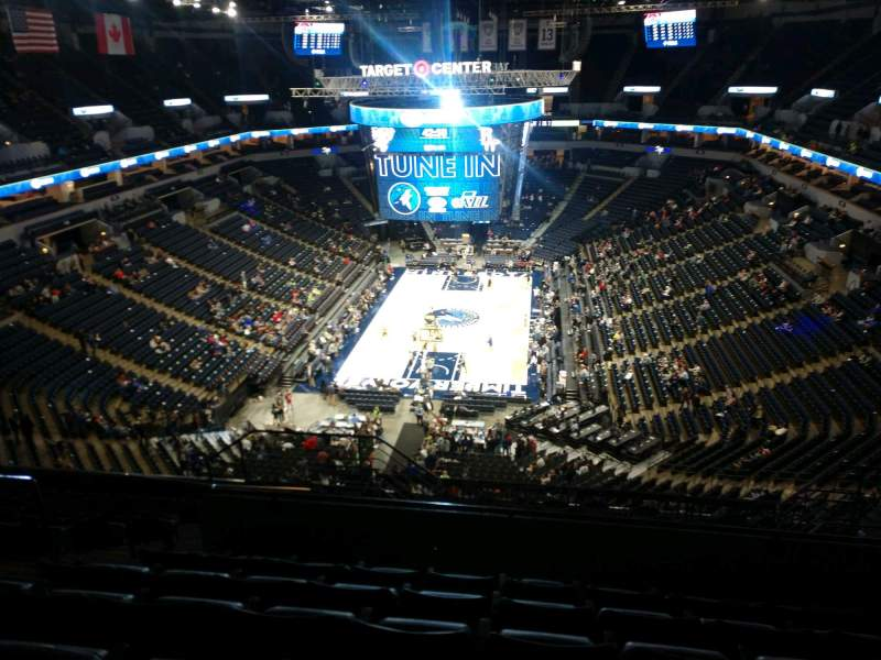 Seating view for Target Center Section 240 Row P Seat 9