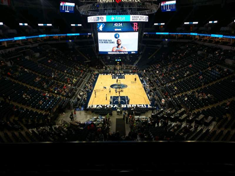 Seating view for Target Center Section 201 Row F Seat 7
