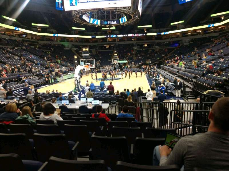 Seating view for Target Center Section 120 Row E Seat 4