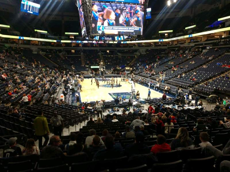 Seating view for Target Center Section 122 Row P Seat 6