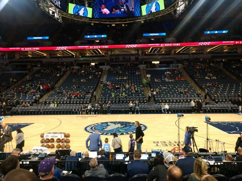 Seating view for Target Center Section 131 Row D Seat 5