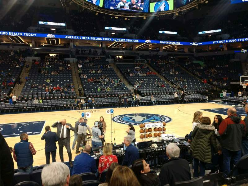 Seating view for Target Center Section 132 Row D Seat 4