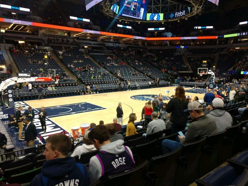 Seating view for Target Center Section 133 Row F Seat 9