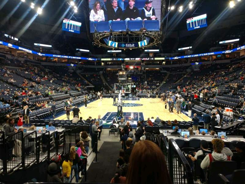 Seating view for Target Center Section 101 Row E Seat 1