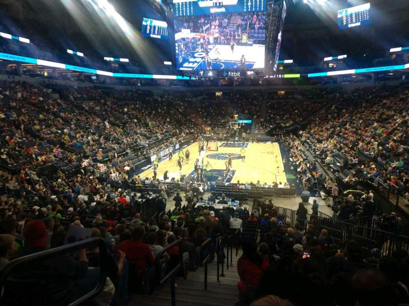Seating view for Target Center Section 120 Row R Seat 13