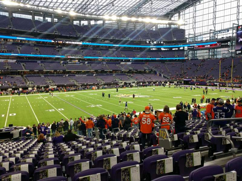 Seating view for U.S. Bank Stadium Section 112 Row 20 Seat 5