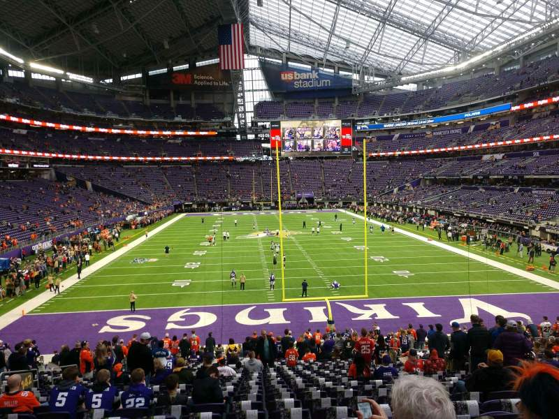 Seating view for U.S. Bank Stadium Section 142 Row 25 Seat 11