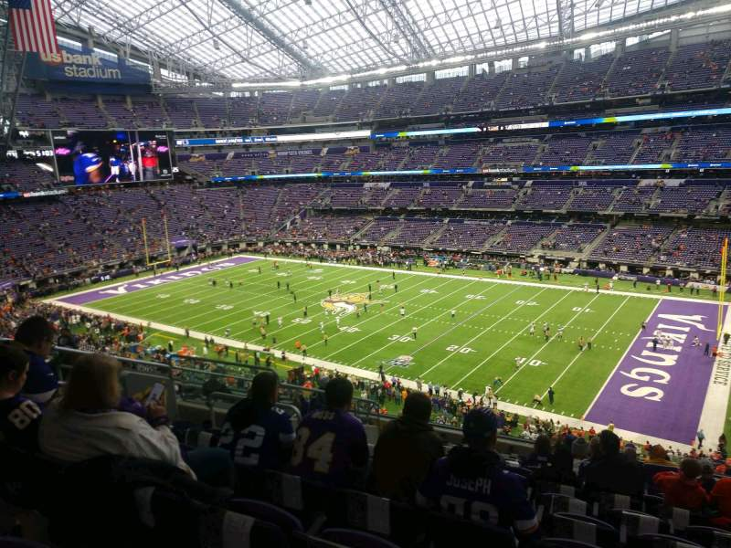 Seating view for U.S. Bank Stadium Section 206 Row 12 Seat 10