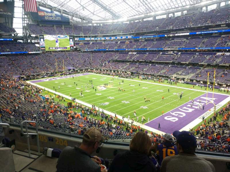 Seating view for U.S. Bank Stadium Section 204 Row 5 Seat 12