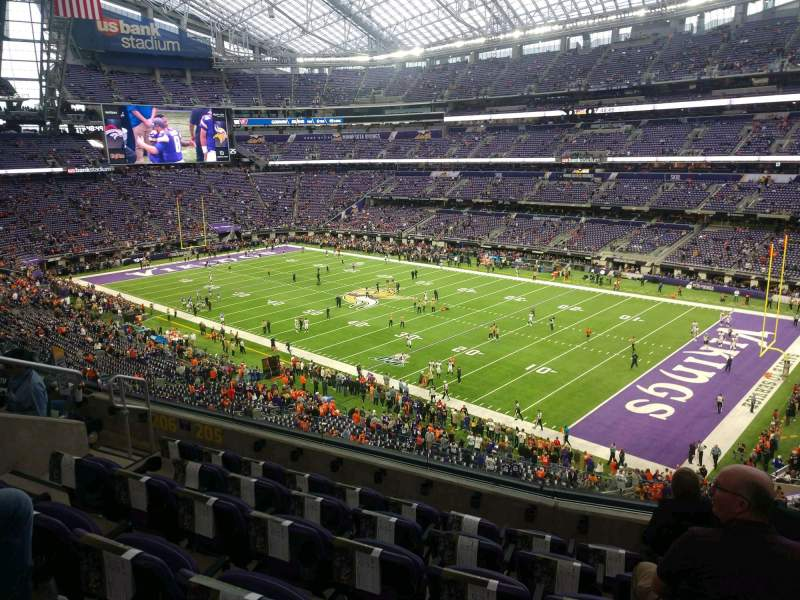 Seating view for U.S. Bank Stadium Section 205 Row 6 Seat 9