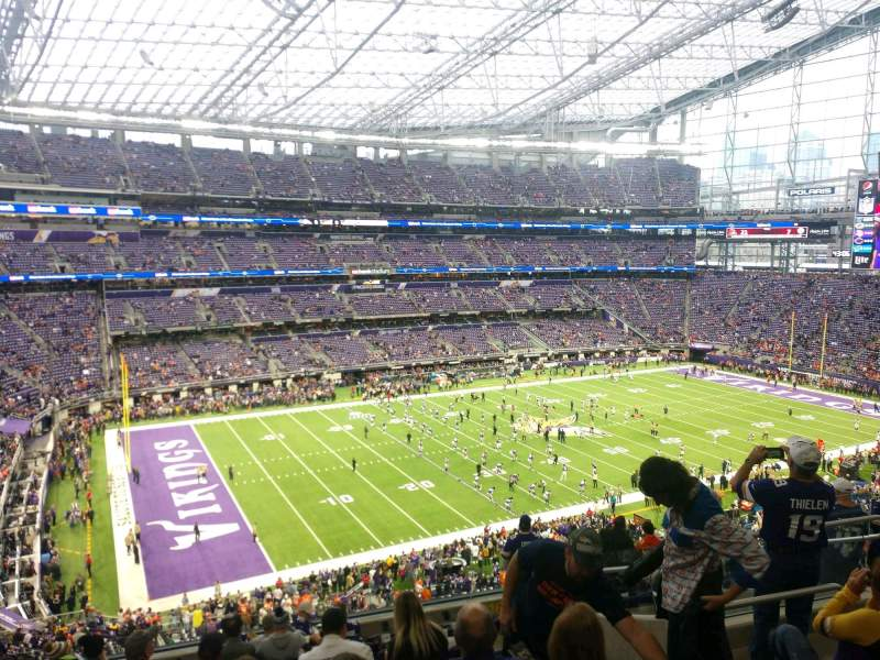 Seating view for U.S. Bank Stadium Section 216 Row 11 Seat 8