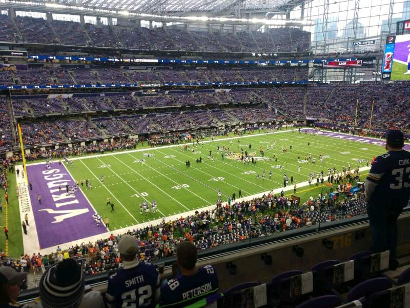 Seating view for U.S. Bank Stadium Section 216 Row 4 Seat 4