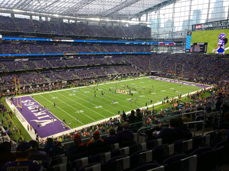 Seating view for U.S. Bank Stadium Section 217 Row 10 Seat 8