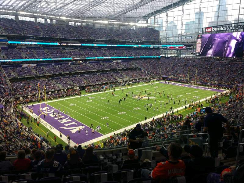 Seating view for U.S. Bank Stadium Section 218 Row 11 Seat 7