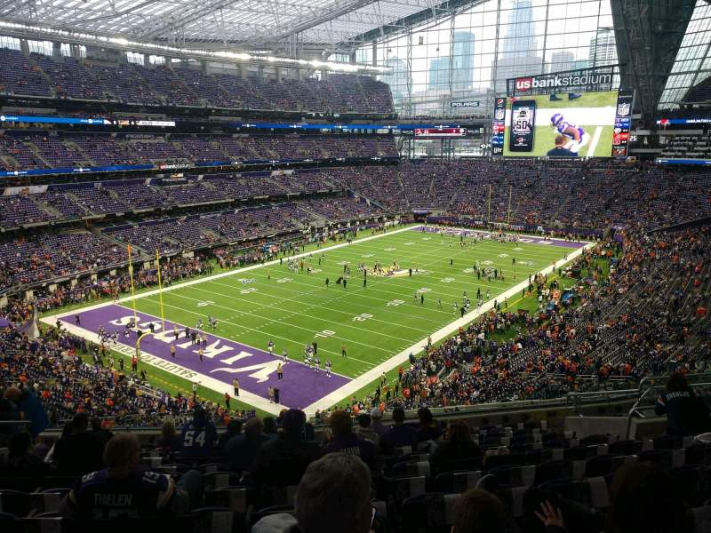 Seating view for U.S. Bank Stadium Section 219 Row 12 Seat 12