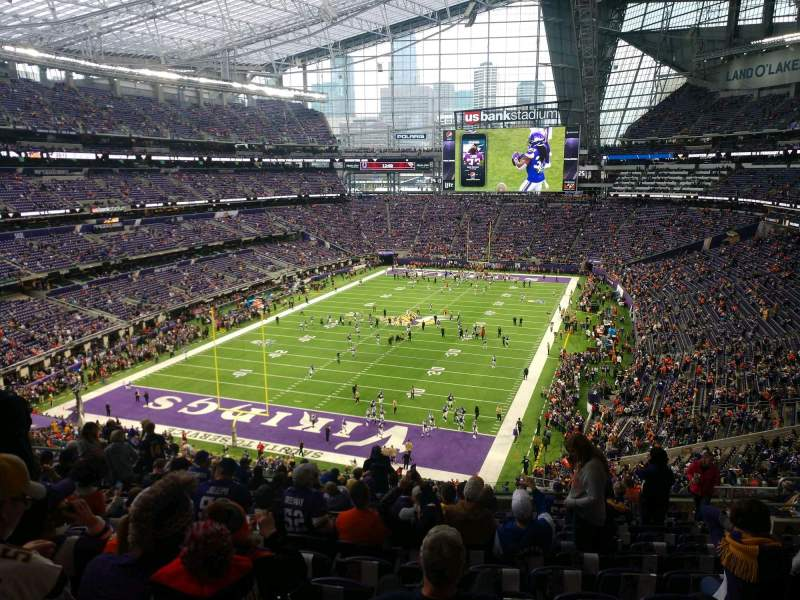 Seating view for U.S. Bank Stadium Section 221 Row 14 Seat 12