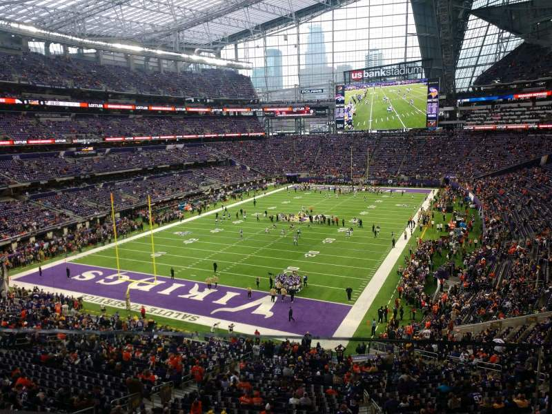 Seating view for U.S. Bank Stadium Section 221 Row 1 Seat 1