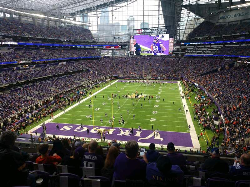 Seating view for U.S. Bank Stadium Section 222 Row 10 Seat 13