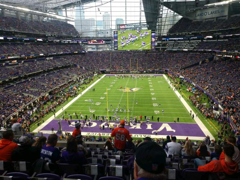 Seating view for U.S. Bank Stadium Section 223 Row 10 Seat 9