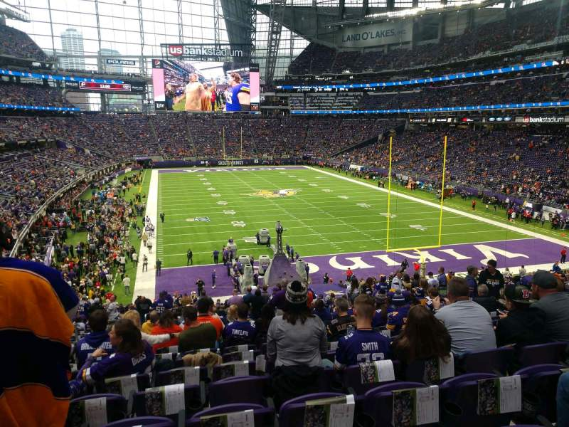 Seating view for U.S. Bank Stadium Section 121 Row 35 Seat 22