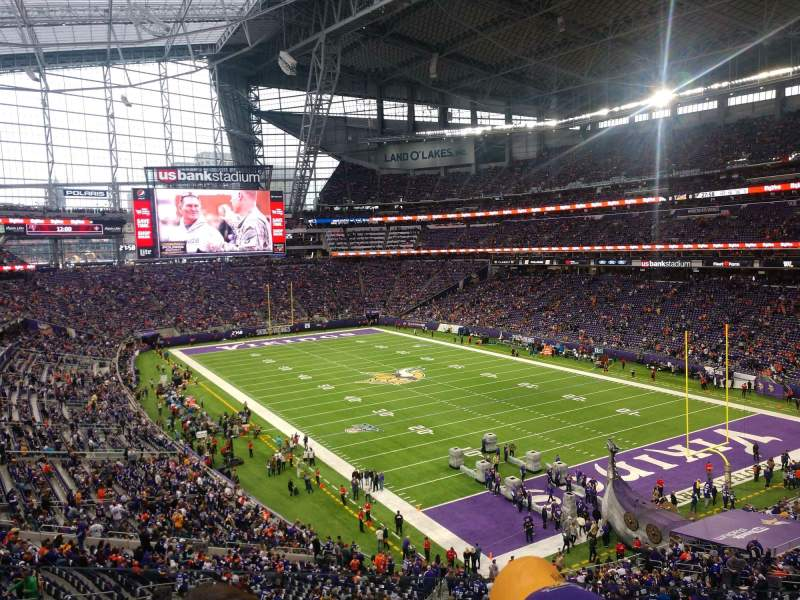 Seating view for U.S. Bank Stadium Section 226 Row 3 Seat 1