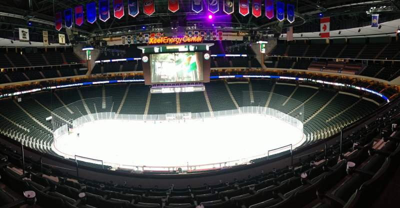 Seating view for Xcel Energy Center Section C26 Row 7 Seat 7