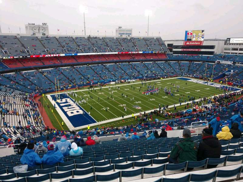 Seating view for Buffalo Bills Stadium Section 338 Row 25 Seat 17