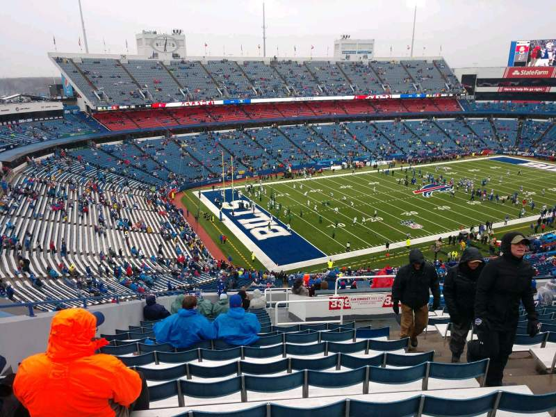 Seating view for Buffalo Bills Stadium Section 339 Row 22 Seat 4