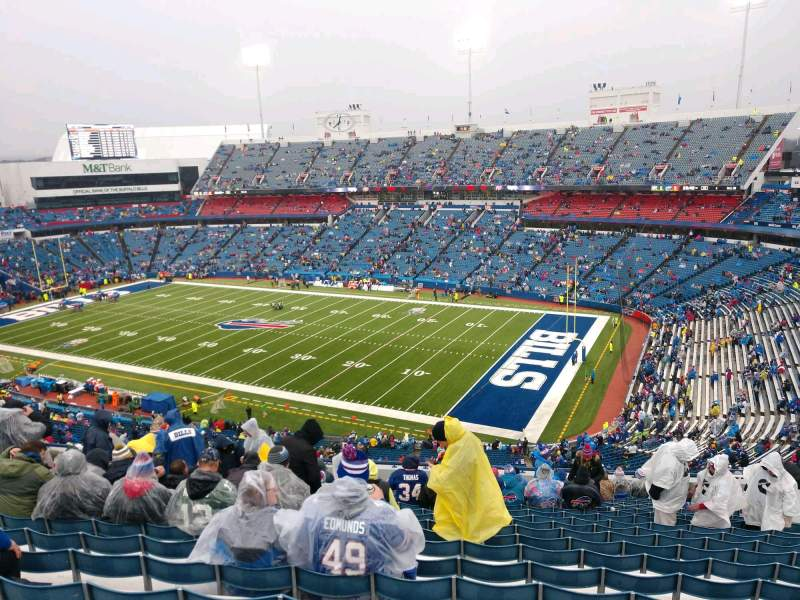 Seating view for Buffalo Bills Stadium Section 307 Row 21 Seat 13