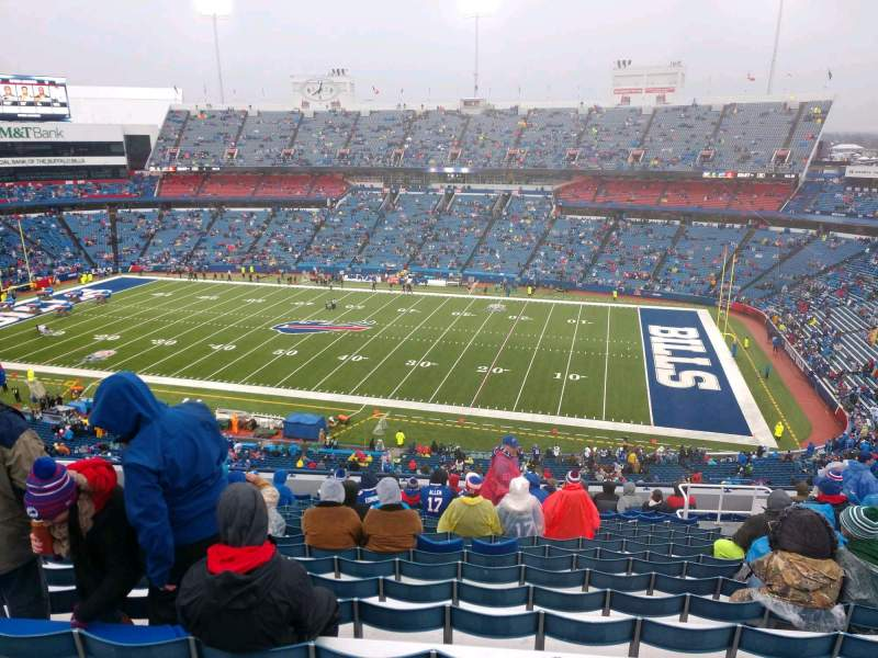 Seating view for Buffalo Bills Stadium Section 309 Row 19 Seat 12