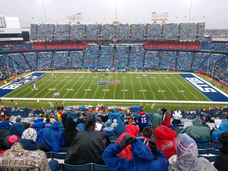 Seating view for Buffalo Bills Stadium Section 311 Row 22 Seat 13