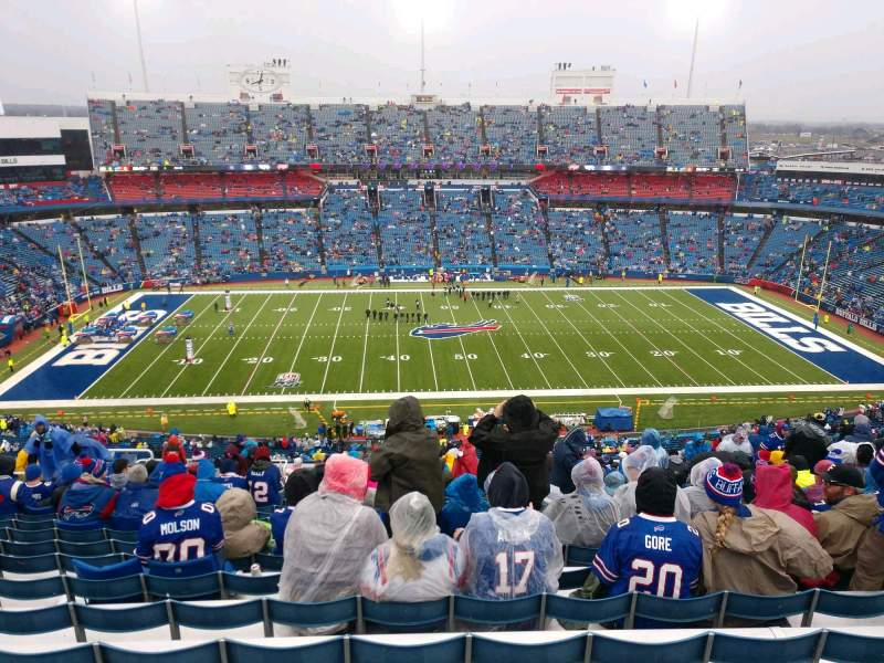 Seating view for Buffalo Bills Stadium Section 312 Row 27 Seat 19