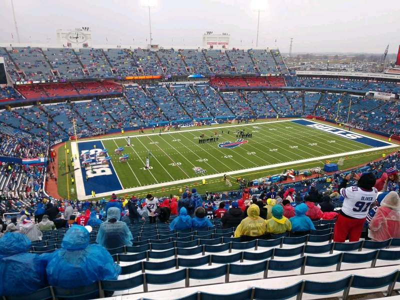 Seating view for Buffalo Bills Stadium Section 315 Row 34 Seat 16