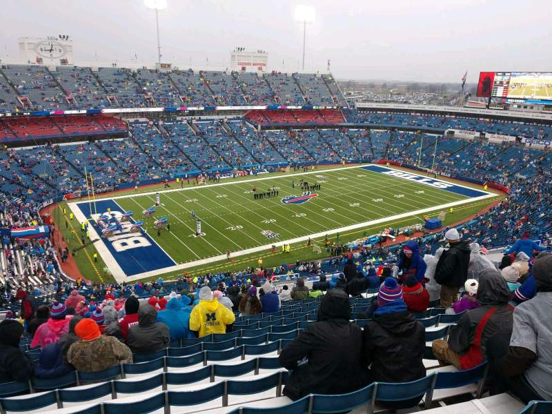 Seating view for Buffalo Bills Stadium Section 316 Row 33 Seat 11