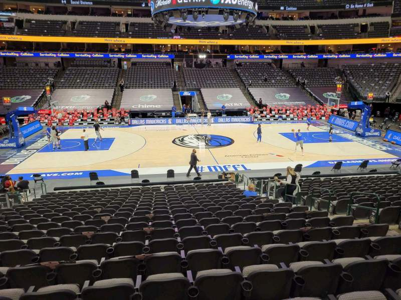 Seating view for American Airlines Center Section 107 Row U Seat 10