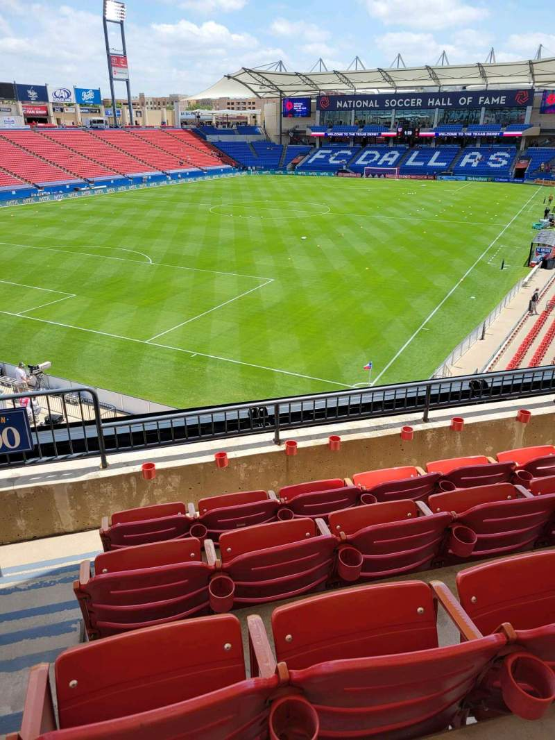 Seating view for Toyota Stadium Section 100 Row 4 Seat 4