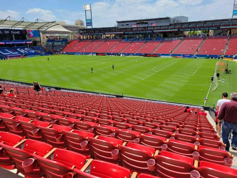 Seating view for Toyota Stadium Section 131 Row 30 Seat 22
