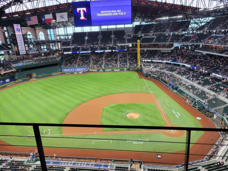 Seating view for Globe Life Field Section 308 Row 2 Seat 10