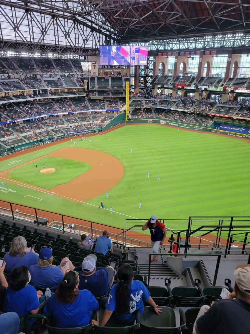 Seating view for Globe Life Field Section 320 Row 9 Seat 24