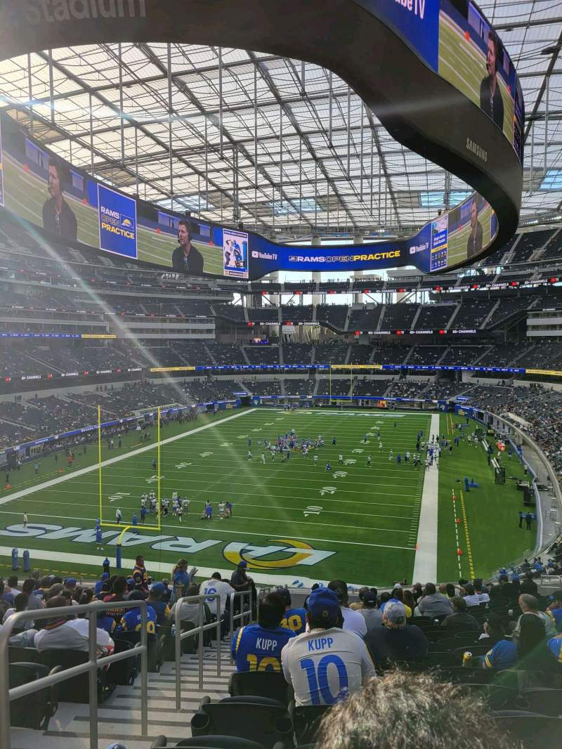 Seating view for SoFi Stadium Section 235 Row 20 Seat 20