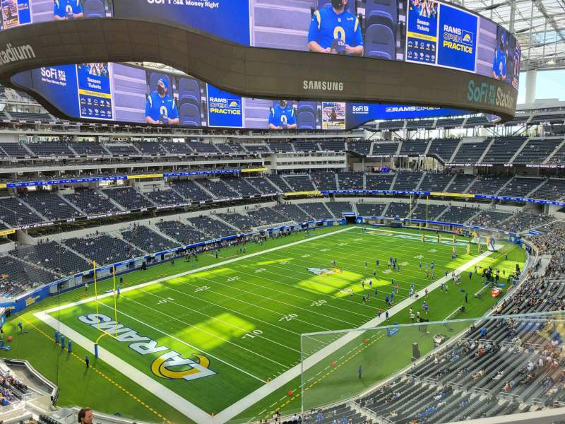 Seating view for SoFi Stadium Section 341 Row 2 Seat 1